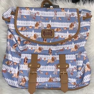 Loungefly Lady and the tramp fence rucksack